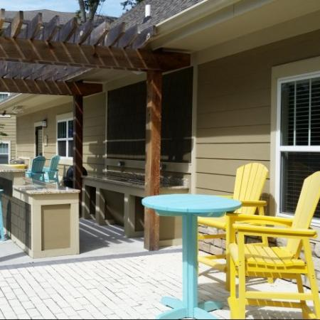 Poolside grill in our Big Oaks Apartments in Lakeland FL
