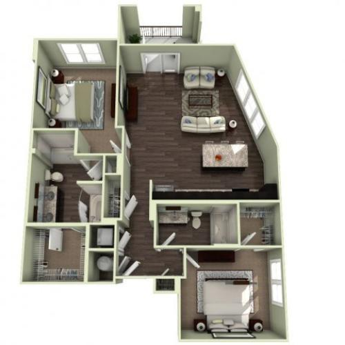 Floor Plan 12 | LaVie SouthPark