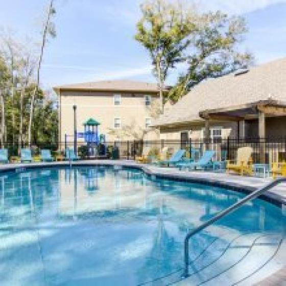 Swimming pool at our Big Oaks Apartment Homes | Apartments for rent in Lakeland FL