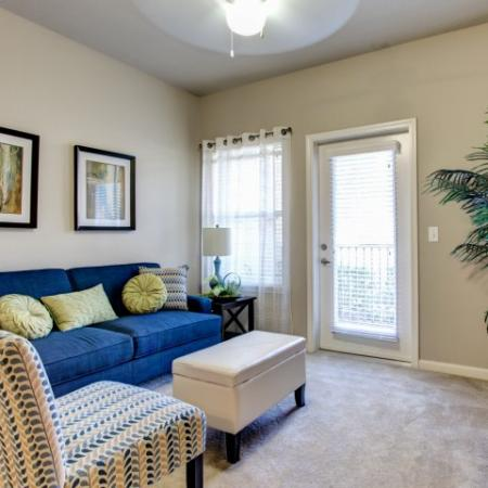 Comfortable living rooms in our Big Oaks Apartments in Lakeland FL
