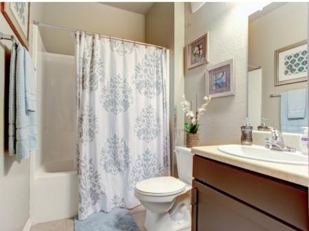 Bathrooms in our Big Oaks Apartments in Lakeland FL