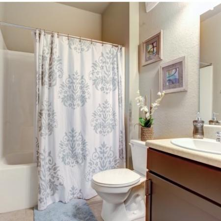 Bathrooms in our Big Oaks Apartments in Lakeland FL