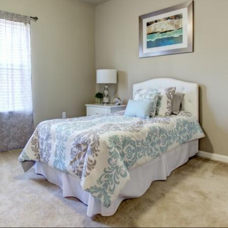 Spacious bedrooms in Big Oaks Apartments in Lakeland FL