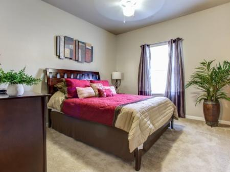 Comfortable Master Bedroom in our Big Oaks Apartments in Lakeland FL