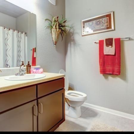 Master Bathroom in our Big Oaks Apartments in Lakeland FL