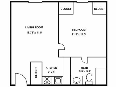 One Bedroom (Third Floor)