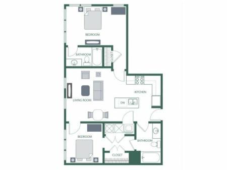 Floor Plan 5 | 2100 Acklen Flats