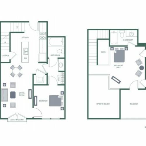 Floor Plan 6 | 2100 Acklen Flats