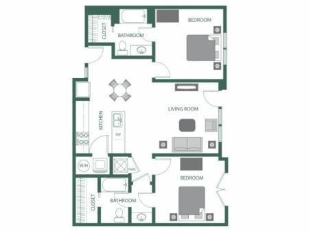 Floor Plan 7 | 2100 Acklen Flats