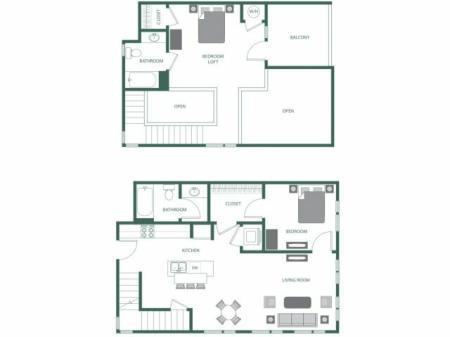 Floor Plan 8 | 2100 Acklen Flats
