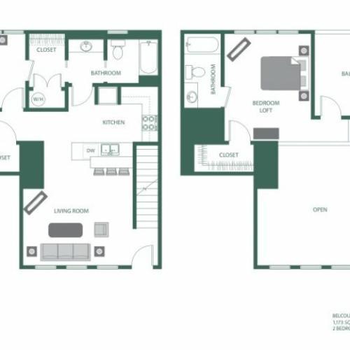 Floor Plan 10 | 2100 Acklen Flats