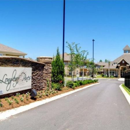 Entrance Longleaf Pines Apartments in Mobile
