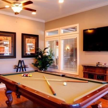 Pool Table Longleaf Pines Apartments in Mobile