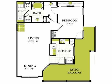 Grapevine Twenty Four 99 - Grapevine Texas One Bedroom Apartment for Rent
