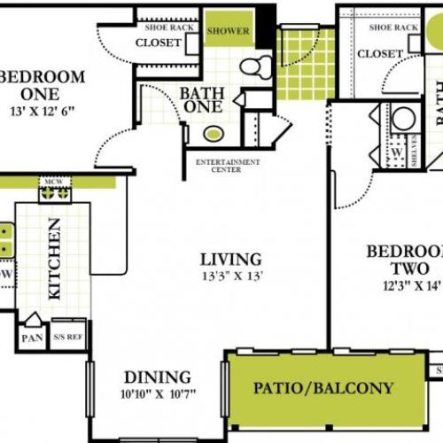 Grapevine Twenty Four 99 - Apartments for Rent Grapevine Texas Two Bedroom Apartment