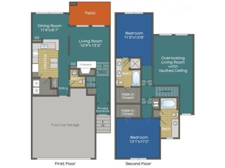 Two Bedroom two and a half bathroom Apartment in Buckhead