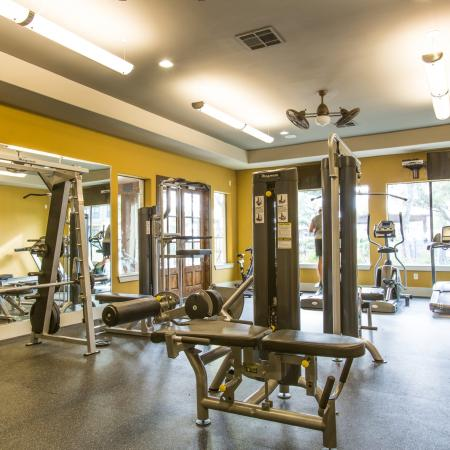 24hr Fitness Center with Weight Machines