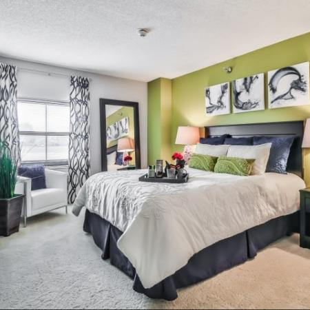 Elegant Master Bedroom | Apartments Arlington Heights, IL | Hancock Square at Arlington Station