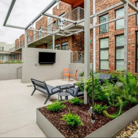 Resident Sun Deck | Nashville Studio Apartment | 2100 Acklen Flats
