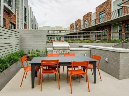 Community BBQ Grills | Nashville Studio Apartment | 2100 Acklen Flats