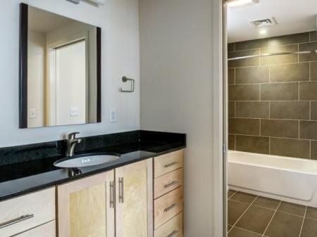Elegant Bathroom | Studio Apartments Nashville | 2100 Acklen Flats