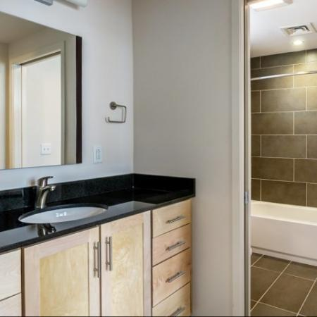 Elegant Bathroom | Studio Apartments Nashville | 2100 Acklen Flats
