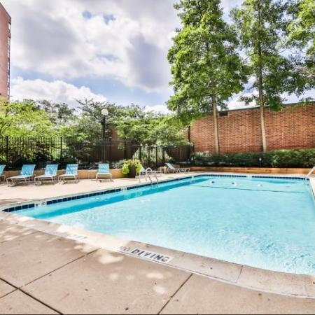 Year Round Swimming Pool | Apartment in Arlington Heights, IL | Hancock Square at Arlington Station