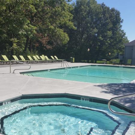Resident Hot Tub | Apartments in Lowell, MA | Cabot Crossing Apartments