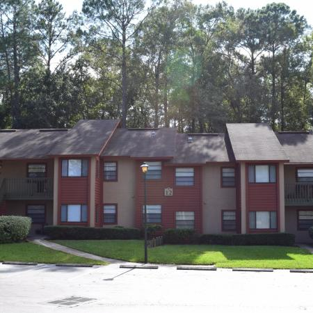 Deerfield Apartments two story buildings with stairs