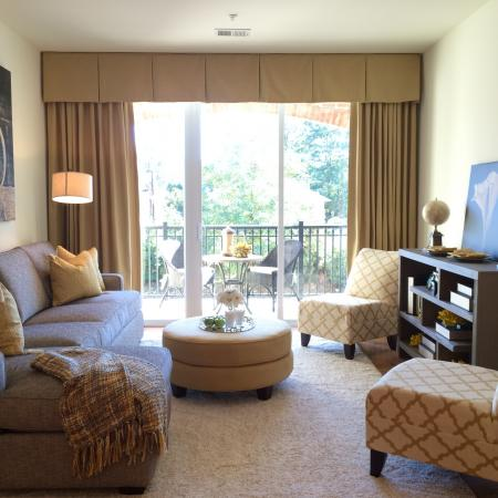 Luxurious Living Room | Bound Brook Apartments NJ | Queens Gate