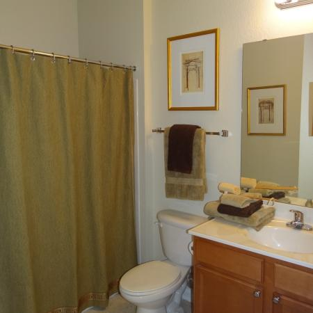 Elegant Bathroom | Apartments in Knightdale, NC | Greystone at Widewaters