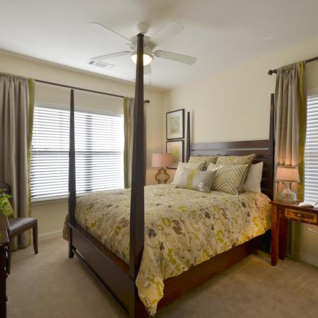 Furnished model master bedroom