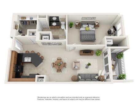 A2 - ONE BEDROOM ONE BATH