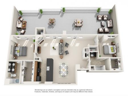 PH2 - TWO BEDROOM TWO BATH PENTHOUSE WITH LOFT