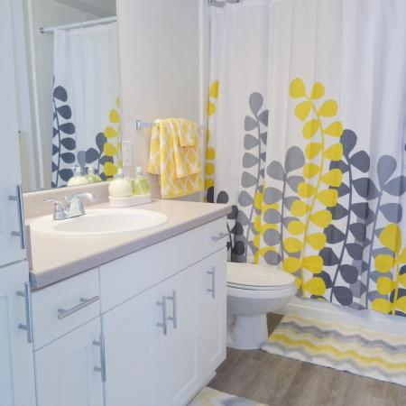 Spacious Master Bathroom | Apartments Homes for rent in Durham, NC | Lodge at Southpoint Apartments