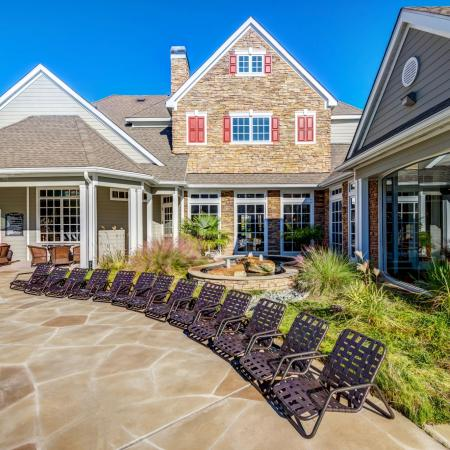 Residents Tanning by the Pool | Durham NC Apartments | Lodge at Southpoint Apartments