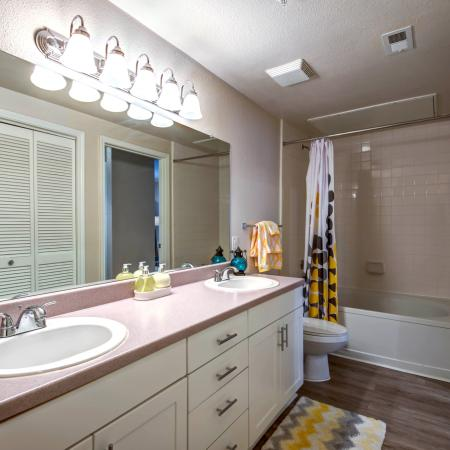 Elegant Master Bathroom | Apartments Durham, NC | Lodge at Southpoint Apartments