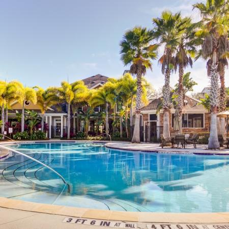Sparkling Pool | Apt For Rent In Tampa FL | The Lodge at Lakecrest