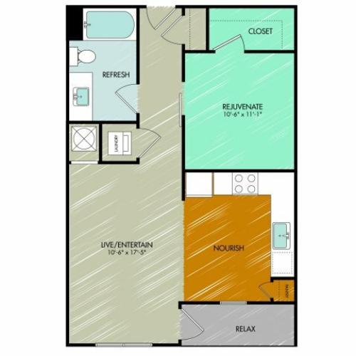 Floor Plan 6 | 909 Flats