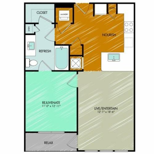 Floor Plan 7 | 909 Flats
