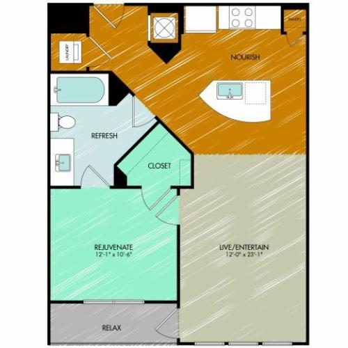 Floor Plan 8 | 909 Flats