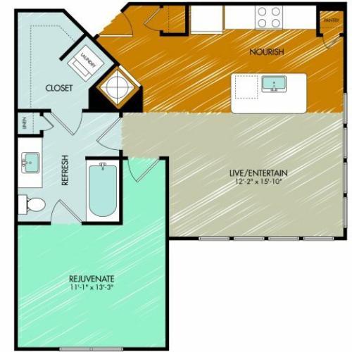 Floor Plan 9 | 909 Flats