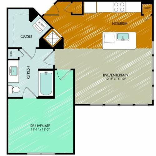 Floor Plan 10 | 909 Flats