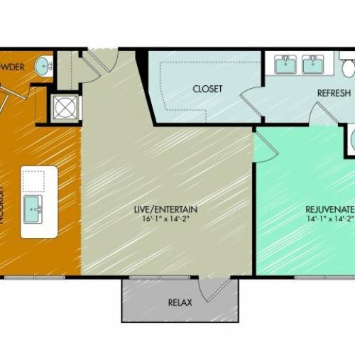 Floor Plan 11 | 909 Flats