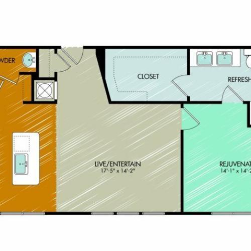 Floor Plan 13 | 909 Flats