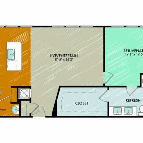 Floor Plan 14 | 909 Flats