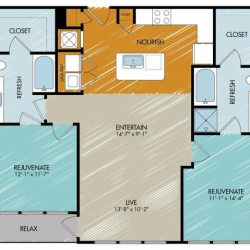 Floor Plan 17 | 909 Flats
