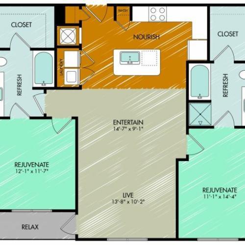 Floor Plan 18 | 909 Flats
