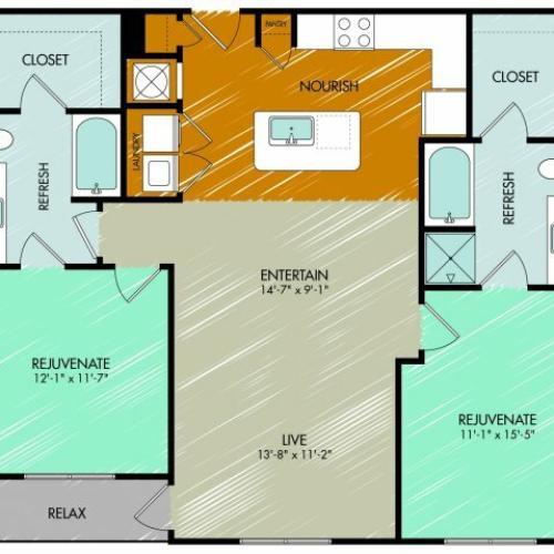Floor Plan 19 | 909 Flats
