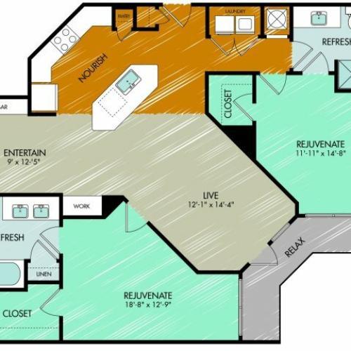 Floor Plan 21 | 909 Flats